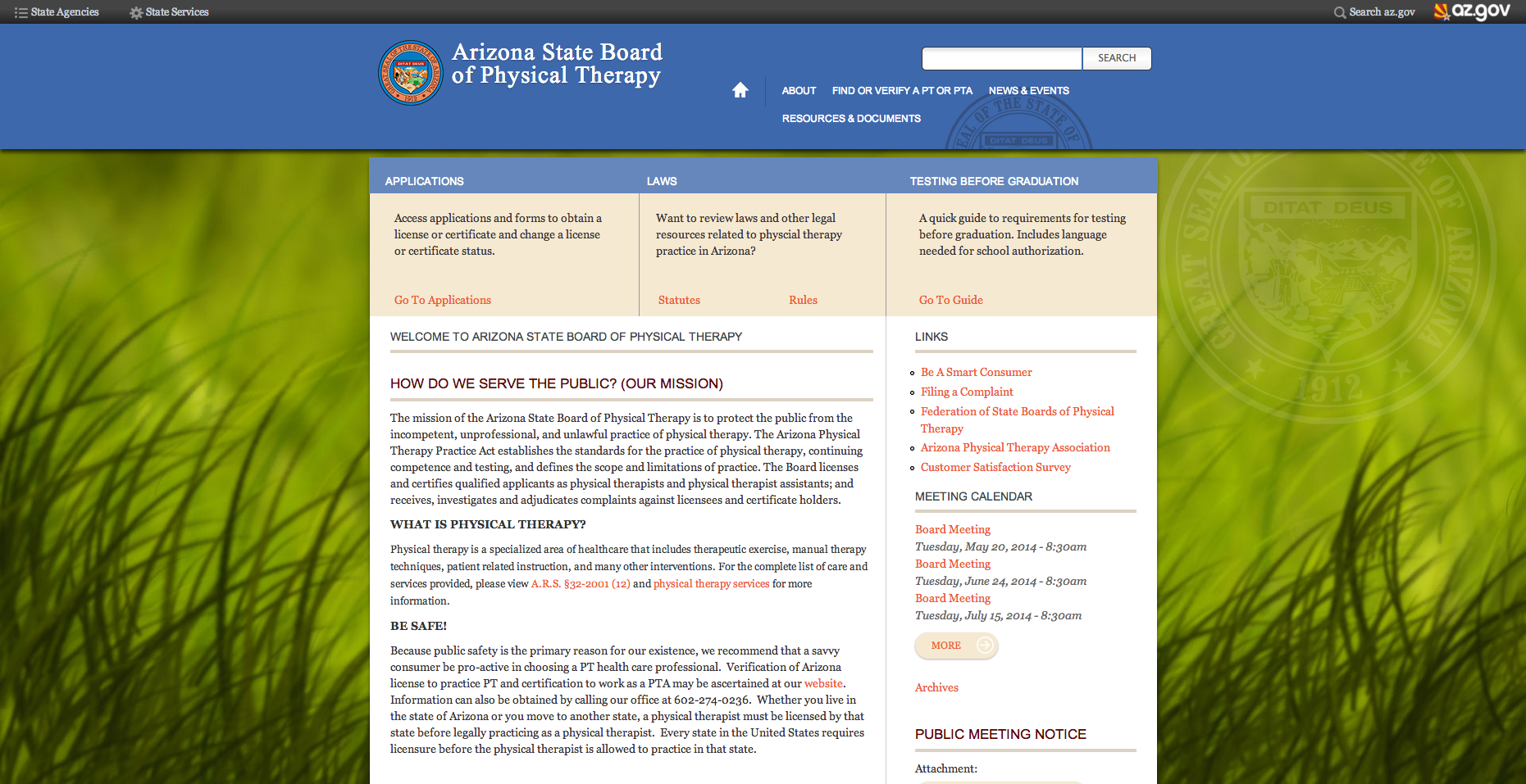 Board of physical therapy - Arizona State Board Of Physical Therapy Website Homepage